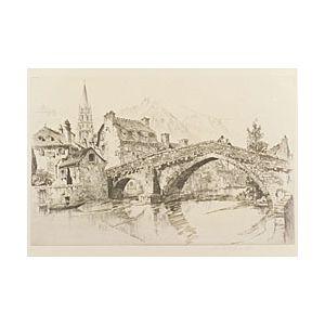 John Taylor Arms (American, 1887-1953)  Le Pont Notre Dame, Mende