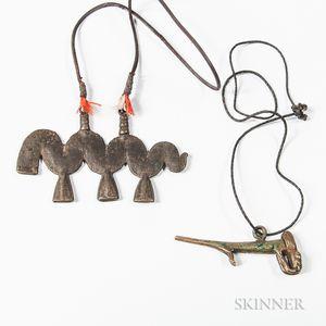 Bronze Lobi Amulet and a Burkina Faso Pendant