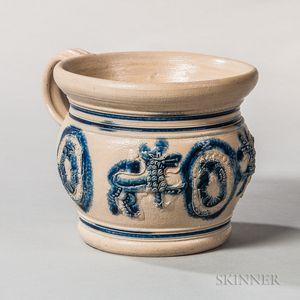 Cobalt-decorated Westerwald Chamber Pot
