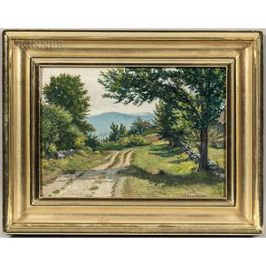 Horace Robbins Burdick (American, 1844-1942)      Cart Path Through Rolling Hills