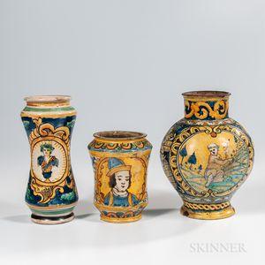 Three Italian Majolica Jars