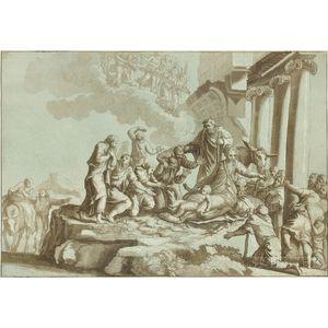 Johann Gottlieb Theophilus Amadeus Prestel (German, 1739-1808), After Parmigianino (Italian, 1503-1540) The Adoration of the Shepherds