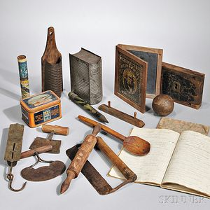 Group of Household and School Items