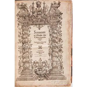 Calvin, Jean (1509-1564) trans. Arthur Golding (1536-1606) Sermons of Maister Iohn Caluin, vpon the Booke of Iob.