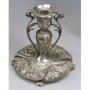 Art Nouveau Pairpoint Silver Plate Chamberstick