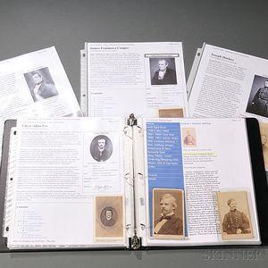 Group of American Historical Carte-de-visites
