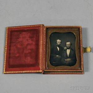 Quarter-plate Daguerreotype Portrait of Two Brothers