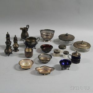 Group of Sterling Silver and Silver-mounted Table and Vanity Items