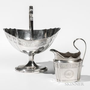 Two Pieces of Irish George III Sterling Silver Tableware