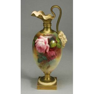 Royal Worcester Porcelain Chelsea-style Ewer
