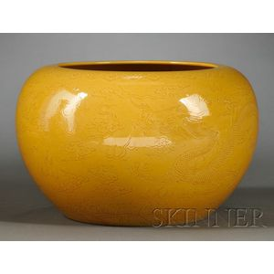 Yellow Glazed Jar