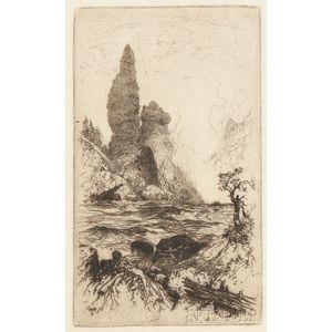 Thomas Moran (American, 1837-1926)      Tower Falls, Yellowstone National Park