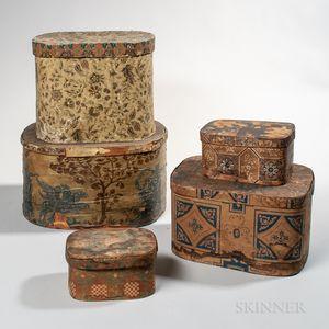 Five Wallpaper Bandboxes