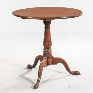 Queen Anne-style Maple Tilt-top Tea Table