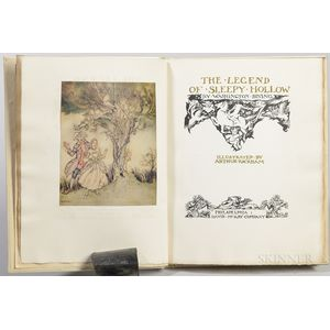 Irving, Washington (1783-1859) illus. Arthur Rackham (1867-1939) The Legend of Sleepy Hollow  , Signed Limited Edition.