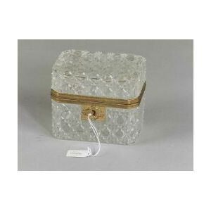 Continental Colorless Cut Glass and Ormolu Mounted Tea Box