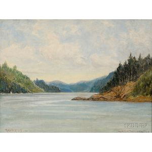 C. Myron Clark  (American, 1858-1925)      Lake View, Possibly a View of Lake Seymour, Vermont