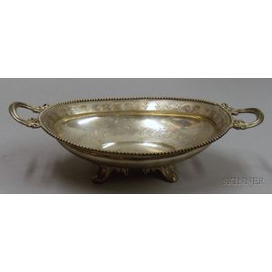 Trosdahl Danish Silver Oval Two-Handled Footed Dish