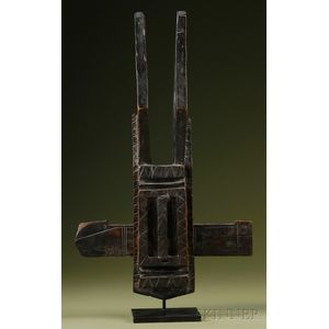 African Carved Wood Lock