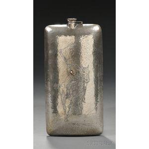 Arts & Crafts Sterling Flask