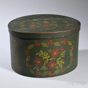 Paint-decorated Bentwood Box