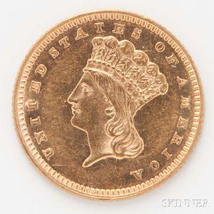 1862 $1 Gold Coin