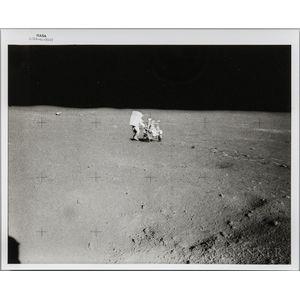 Apollo 14, EVA, Edgar Mitchell, February 6, 1971.