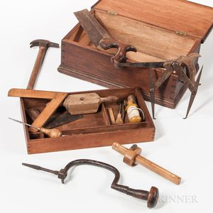Small Shaker Walnut Tool Box with Tools