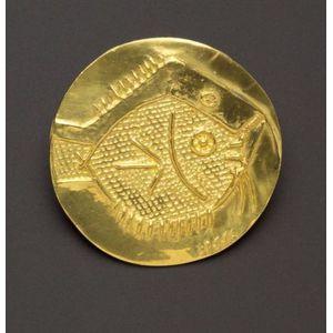 Artist-Designed High-Karat Gold Pendant, Pablo Picasso