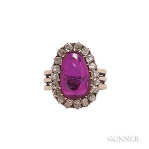 Antique Ruby and Diamond Ring