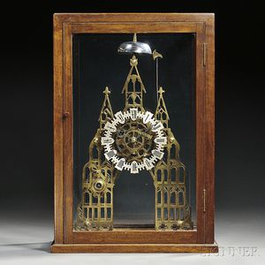Gothic Cathedral-form Skeleton Clock