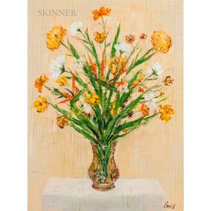 American School, 20th Century    Still Life with Flowers in a Vase