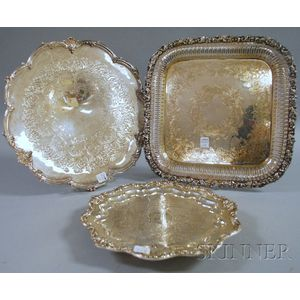 Three Silver-plated Trays