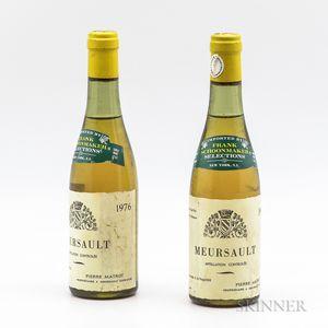 Pierre Matrot Meursault 1976, 2 demi bottles