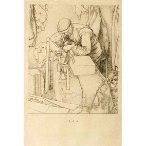 Robert Sargent Austin (British, 1895-1987)  The Wood Carver