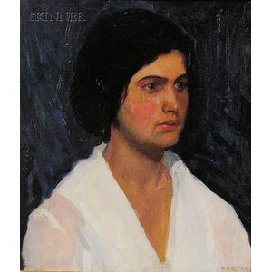 Edwin Ambrose Webster (American, 1869-1935)      Portrait of a Woman