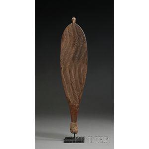 Australian Aborigine Carved Wood Spear Thrower
