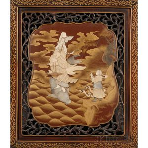 Inlaid Lacquered Panel