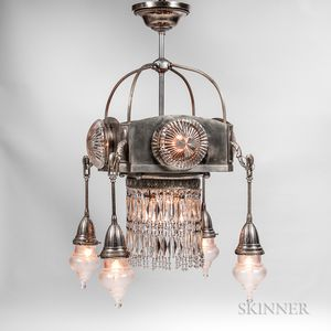 Art Deco Hanging Lamp Fixture