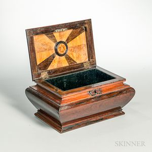 Regency Carved Rosewood Document Box