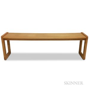 Long Scandinavian Oak Low Table