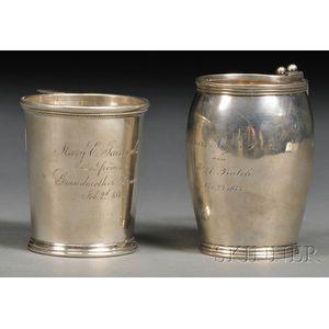 Two Bigelow, Bros. & Kennard Silver Mugs