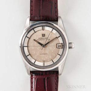 """Universal Geneve Stainless Steel """"Polerouter Super"""" Automatic Wristwatch"""