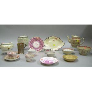 Seventeen Pieces of Assorted 19th Century English Ceramics