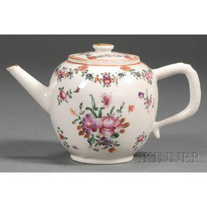Famille Rose Porcelain Teapot