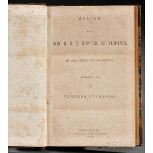 American Political Speeches, Sammelband Volume, c. 1850.