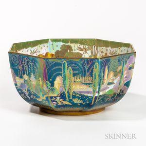Modern Wedgwood Fairyland Lustre Octagonal Bowl