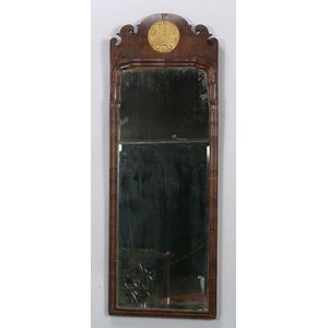Queen Anne Walnut Parcel-gilt Mirror