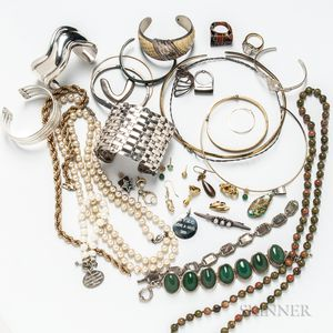 Group of Silver and Costume Jewelry