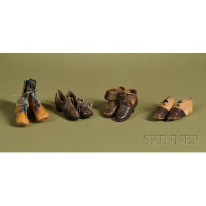 Four Pairs of Doll Shoes